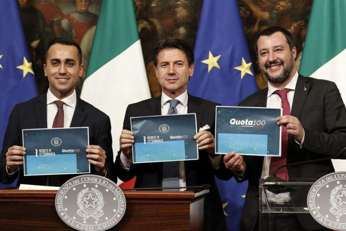 Di Maio Salvini Slogan Propaganda Governo