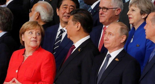 Merkel Xi Jinping Putin