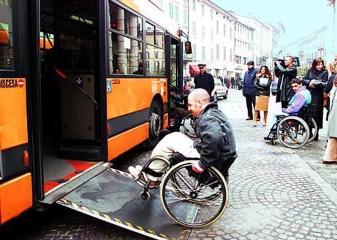 pedana, autobus, barriere