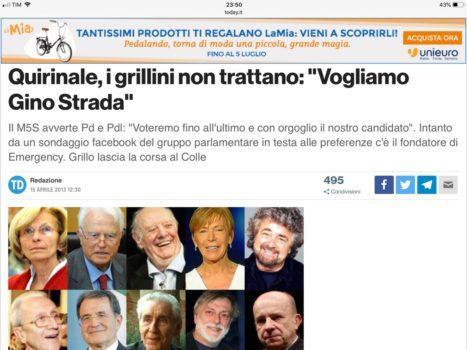 M5S Gino Strada