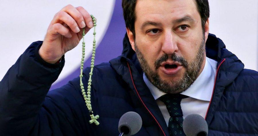 Salvini, Fede e Papeete