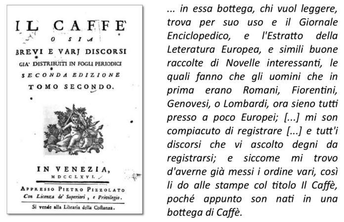 Pietro Verri Il Caffè
