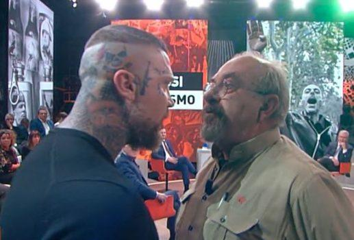 Vauro e Minnocci faccia a faccia durante la diretta del 7 novembre