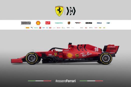 Vista laterale della nuova Ferrari SF1000