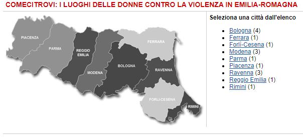 Emilia-Romagna Centri antiviolenza