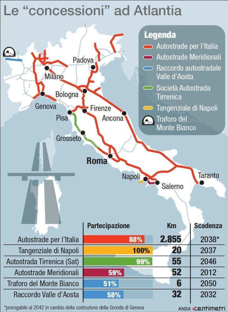 Autostrade, una revoca salvo intese: il piano del Governo