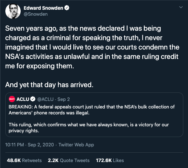Edward Snowden aveva ragione, ma ormai è troppo tardi sorveglianza