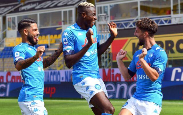 Esultanza per il primo gol del Napoli