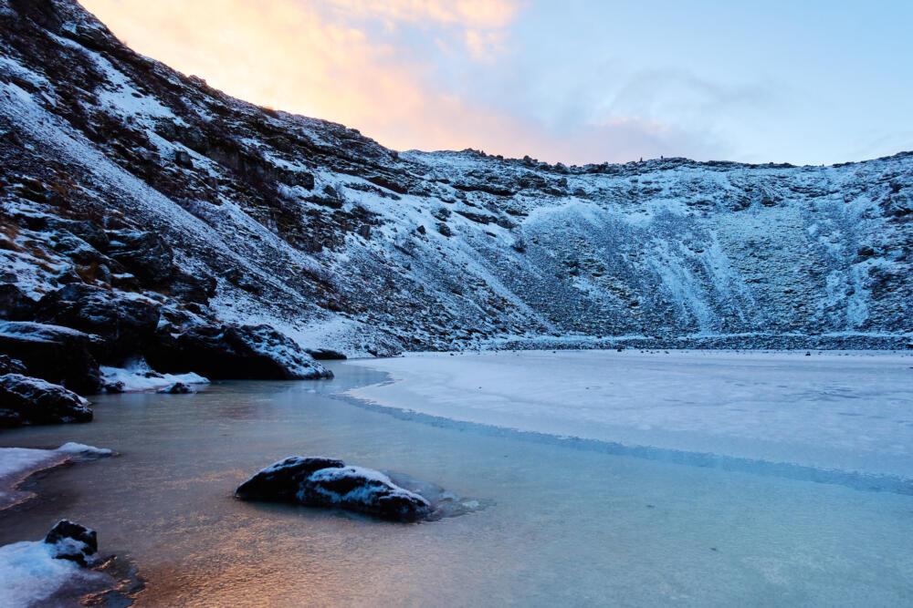 Lago di Kerid in Islanda