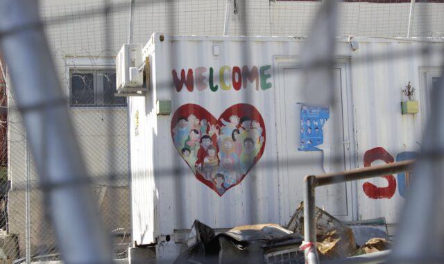 Campo profughi di Moria.