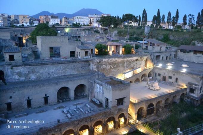 La Zona Rossa della cultura: Il Parco Archeologico di Ercolano e l'online