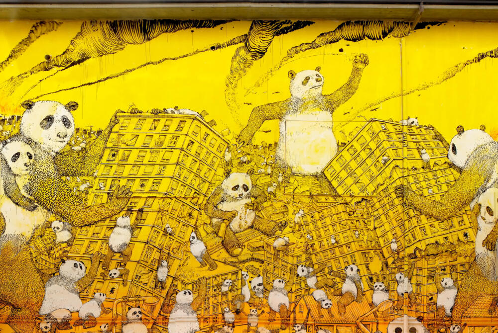 Street art e pandemia, Blu