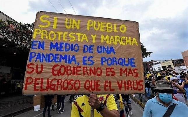 Colombia, Duque proteste