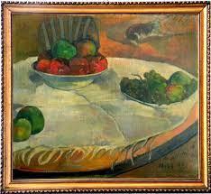 'Fruits sur une table ou nature morte ou petit chien', uno tra i numerosi quadri famosi recentemente rinvenuti Rembrandt