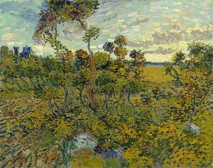 'Tramonto a Montmajour', Vincent Van Gogh, uno tra i numerosi quadri famosi recentemente rinvenuti 1888 Rembrandt