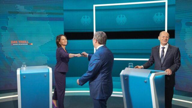 Elezioni in Germania: è scontro aperto tra Laschet, Sholz e Baerbock