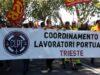 I lavoratori portuali di Trieste in sciopero contro il Green Pass e il governo